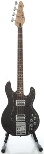 Musical Instruments:Bass Guitars, Early 1980's Peavey T-40 Black Electric Bass Guitar, Serial #01198228....