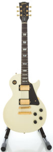 Musical Instruments:Electric Guitars, 1990 Gibson Les Paul Studio White Solid Body Electric Guitar, Serial #90800543....