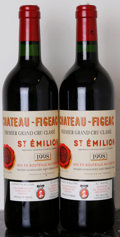 Red Bordeaux, Chateau Figeac 1998 . St. Emilion. 1lscl. Bottle (2). ... (Total: 2 Btls. )