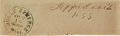Autographs:Statesmen, Jefferson Davis Free-Franked Signature as United States Senator....