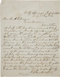 Autographs:Military Figures, [Civil War] Winfield S. Featherston Autograph Letter Signed....