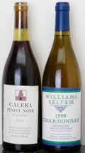 Domestic Pinot Noir, Calera Pinot Noir . 1991 Central Coast lbsl Bottle (1). Williams Selyem Chardonnay . 1999 Hirsch Vineyard... (Total: 2 Btls. )