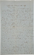Autographs:Military Figures, [Civil War] Letters from Coffeeville....