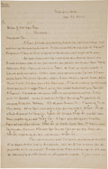 Autographs, [Civil War] Post-war Autograph Letter....