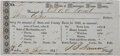 Miscellaneous:Ephemera, [Slavery] Tax Receipt for the State of Mississippi....