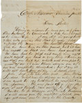Autographs:Military Figures, [Civil War] Autograph Letter from Camp Moscow....