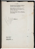 "Movie/TV Memorabilia:Documents, A William Holden Signed Script from ""Stalag 17,"" 1953.... (Total:11 Items)"