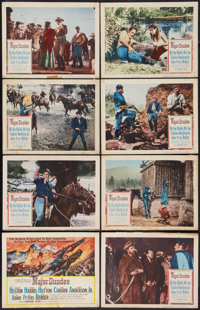 """Major Dundee (Columbia, 1965). Lobby Card Set of 8 (11"""" X 14""""). Western. ... (Total: 8 Items)"""