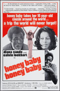 "Movie Posters:Blaxploitation, Honeybaby, Honeybaby (Kelly-Jordan Enterprises, 1974). One Sheet(27"" X 41""). Blaxploitation.. ..."