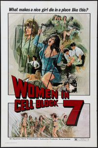 "Women in Cell Block 7 (Aquarius Releasing, 1974). One Sheet (27"" X 41""). Sexploitation"