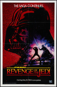 """Revenge of the Jedi (20th Century Fox, 1982). One Sheet (27"""" X 41"""") Dated Advance. Science Fiction"""
