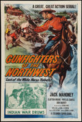 """Movie Posters:Serial, Gunfighters of the Northwest (Columbia, 1954). One Sheet (27"""" X 41"""") Chapter 2 -- """"Indian War Drums."""" Serial.. ..."""
