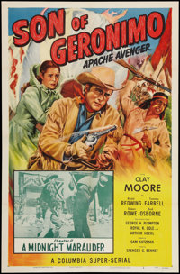 """Son of Geronimo: Apache Avenger (Columbia, 1952). One Sheet (27"""" X 41"""") Chapter 11 -- """"A Midnight Maraude..."""