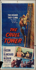 "Movie Posters:Adventure, The Cruel Tower (Allied Artists, 1956). Three Sheet (41"" X 81"").Adventure.. ..."