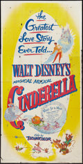 "Movie Posters:Animation, Cinderella (Buena Vista, R-1957). Three Sheet (41"" X 81""). Animation.. ..."