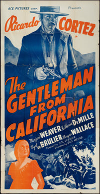 "The Gentleman from California (Ace, R-1930s). Three Sheet (41"" X 81""). Western"