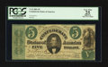 Confederate Notes:1861 Issues, T33 $5 1861 PF-7 Cr. 245Ba.. ...