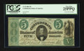 Confederate Notes:1861 Issues, T33 $5 1861 PF-10 Cr. 254Bb CC.. ...