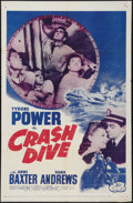 "Movie Posters:War, Crash Dive & Other Lot (20th Century Fox, R-1956). One Sheets(2) (27"" X 41""). War.. ... (Total: 2 Items)"