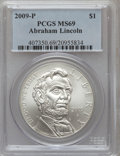 Modern Issues, 2009-P $1 Lincoln MS69 PCGS. PCGS Population (2652/3222). NGCCensus: (1595/8161). Numismedia Wsl. Price for problem free ...