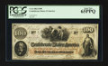 Confederate Notes:1862 Issues, T41 $100 1862 PF-12 Cr. 317A.. ...