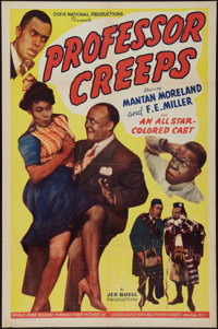 """Professor Creeps (Toddy Pictures, 1942). One Sheet (27"""" X 41""""). Black Films"""