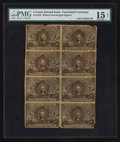 Fractional Currency:Second Issue, Fr. 1232 5¢ Second Issue Block of Eight PMG Choice Fine Net 15.. ...