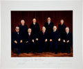 Autographs:Statesmen, Burger Supreme Court Oversized Color Photograph Signed by Eight ofthe Nine Justices....