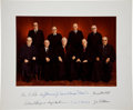 Autographs:Statesmen, Burger Supreme Court Oversized Photograph Signed by Chief JusticeWarren E. Burger and all eight associate justices:...