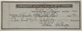 Autographs:U.S. Presidents, Calvin Coolidge Check Signed....