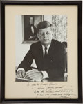 Autographs:U.S. Presidents, John F. Kennedy Photograph Signed....