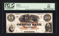 Obsoletes By State:Massachusetts, Conway, MA- Conway Bank $20 Sep. 12, 1854 G12a Proof. ...