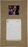 Autographs:Non-American, Prince Philip, Duke of Edinburgh, Autograph Letter Signed....