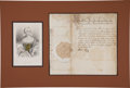 Autographs:Non-American, Maria Theresa Document Signed as Holy Roman Empress...