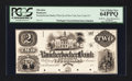 Obsoletes By State:New York, New York, NY- Knickerbocker Bank of the City of New York $2 G4aProof. ...