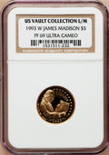 Modern Issues, 1993-W G$5 Bill of Rights Gold Five Dollar PR69 Ultra Cameo NGC.EX: US Vault Collection L/M. NGC Census: (13/2). PCGS Popu...