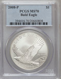 Modern Issues, 2008-P $1 Bald Eagle MS70 PCGS. PCGS Population (842). NGC Census:(6520). Numismedia Wsl. Price for problem free NGC/PCGS...