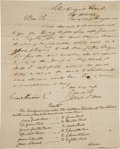 General Historic Events, [Marquis de Lafayette] Letter Detailing the Route of Lafayette during the 1824 Visit to Philadelphia....