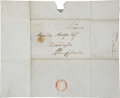"""Autographs:Statesmen, Timothy Pickering Free Frank Signed """"T. Pickering.""""..."""