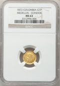 Colombia, Colombia: Republic gold Peso 1872, ...