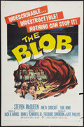 """Movie Posters:Science Fiction, The Blob (Paramount, 1958). One Sheet (27"""" X 41""""). Science Fiction.. ..."""
