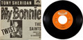 """Music Memorabilia:Recordings, Beatles - Tony Sheridan & The Beat Brothers """"My Bonnie""""/ """"The Saints"""" 45 w/Picture Sleeve (Germany - Polydor 24673, 1961)...."""