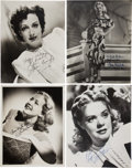 Movie/TV Memorabilia:Autographs and Signed Items, Joan Crawford and Others Vintage Actress-Signed Photos....