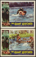 """Movie Posters:Horror, The Giant Leeches (American International, 1959). Lobby Cards (2) (11"""" X 14""""). Horror.. ... (Total: 2 Items)"""