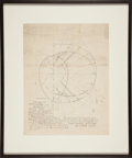 Autographs:Inventors, [Thomas Edison] Charles L. Clarke Diagram Signed and Blueprint Depicting the Carbon Loop of Edison's First Light Bulb.... (Total: 2 Items)
