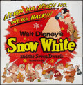 "Movie Posters:Animation, Snow White and the Seven Dwarfs (Buena Vista, R-1958). Six Sheet(84"" X 84""). Animation.. ..."