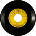 "Music Memorabilia:Recordings, Elvis Presley ""Good Rockin' Tonight"" Sun 45 (Sun 210, 1954). ..."