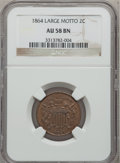 Two Cent Pieces, 1864 2C Large Motto AU58 Brown NGC. NGC Census: (83/1242). PCGSPopulation (132/740). Mintage: 19,847,500. Numismedia Wsl. ...