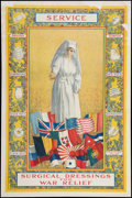 "Movie Posters:War, World War I Poster (1917). Red Cross Recruitment Poster (28"" X 42"")""Service."" War.. ..."