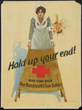 "Movie Posters:War, World War I Propaganda Poster (Red Cross, 1917). Poster (20.25"" X27.5"") ""Hold Up Your End."" War.. ..."